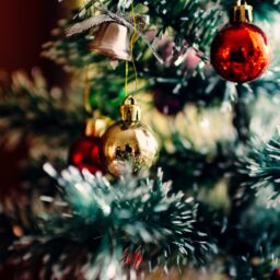 bauble balls hang on christmas tree